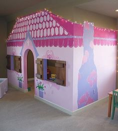 @simplyorganized stuns us with this adorable playhouse Tag friends that would want this for their princess(s)!... - Home Decor For Kids And Interior Design Ideas for Children, Toddler Room Ideas For Boys And Girls