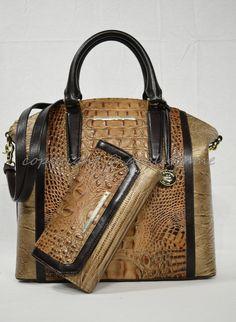 ea6c91091a33 Brahmin Priscilla Leather Satchel   Shoulder Bag in Pearl Dogwood