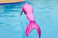 When you're looking for a hot pink mermaid tail, shop Fin Fun's Malibu Pink design from the Mermaidens collection! Pink Mermaid Tail, Mermaid Tails For Kids, Mermaid Cove, The Little Mermaid, Real Life Mermaids, Mermaids And Mermen, Realistic Mermaid, New Disney Princesses, Little Girl Names