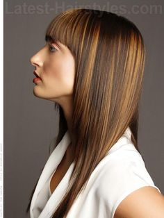 long sleek hairstyles - this is the one... the color not the cut for me and it doesn't look 80s Kris lol