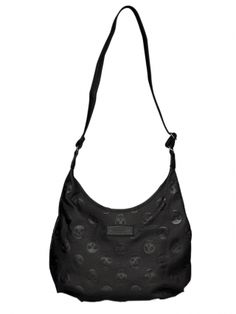 """Embossed Skull"" Crossbody Hobo Bag by Loungefly (Black)"