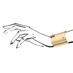 Bracelet from SODA collection by Anna Orska. Illustrated by Anna Halarewicz.