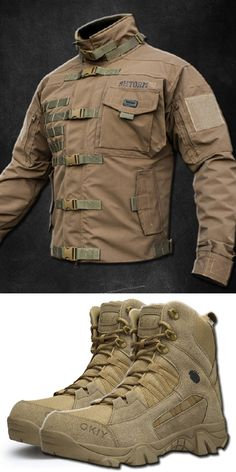 Tactical Wear, Tactical Clothing, Mens Boots Fashion, Winter Fashion Outfits, Outdoor Outfit, Mens Clothing Styles, Combat Boots, Fall Coats, Menswear