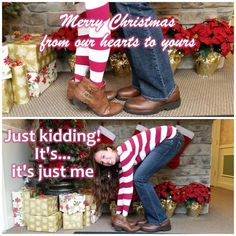 Hahaha Christmas card of a single person
