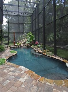 Swimming pool designs featuring new swimming pool ideas like glass wall swimming pools, infinity swimming pools, indoor pools and Mid Century Modern Pools. Small Swimming Pools, Small Pools, Swimming Pool Designs, Lap Swimming, Lap Pools, Small Indoor Pool, Outdoor Pool, Backyard Pools, Indoor Outdoor