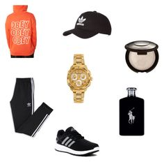 """""""CHill"""" by abigail-743 ❤ liked on Polyvore featuring OBEY Clothing, adidas, Versace and Ralph Lauren"""