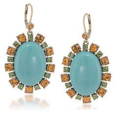 Earrings Drop | Precious Gems Cabachon | Carolee.com
