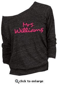 $25 Custom Mrs. Slouchy Pullover for the day after the wedding. Cute :)