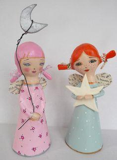 Paper Mache Angel Dolls