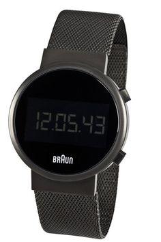 Braun Round Digital Watch