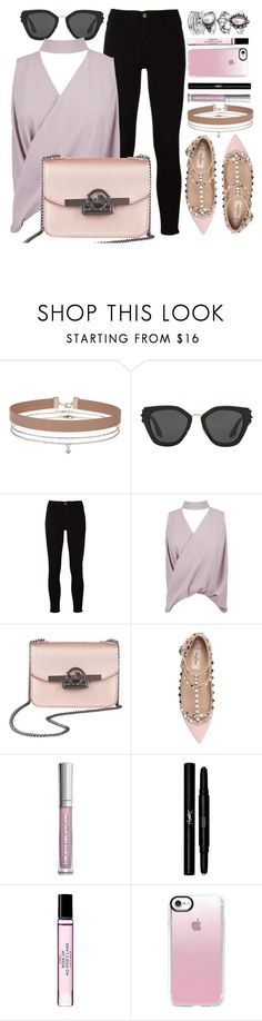"""Rhapsody"" by mezzanotteofficial ❤ liked on Polyvore featuring Miss Selfridge, Prada, Frame, Boohoo, Valentino, Yves Saint Laurent, Liberty, Casetify, Pink and purple"