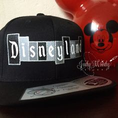 c439dd85457 Disneyland Logo Snapback Hat HIS by JudyMoodyDesigns on Etsy