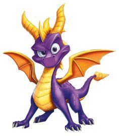 Spyro the Dragon (character) Spyro Characters, Video Game Characters, Cartoon Characters, Spyro The Dragon, Dragon Art, Crash Bandicoot, Spyro And Cynder, Cartoon Dragon, Cartoon Dinosaur
