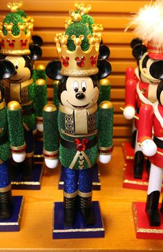 Make Festive Mickey Mouse Nutcrackers Part of Your Holiday Traditions at Disney Parks Festive Mickey Mouse nutcracker decorations Disney Christmas Decorations, Mickey Mouse Christmas, Decoration Christmas, Nutcracker Christmas, German Christmas, Christmas Holidays, Christmas Crafts, Christmas Ornaments, Disney Parks