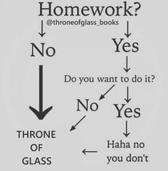 "Throne of Glass Books on Instagram: ""Lmao, who wants to do homework when you've got THRONE OF GLASS! ❤"