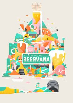 The Road to Beervana 2016 illustration and brand.