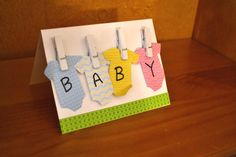 Onesies on a Line Baby Card by NicolesPaperHearts on Etsy