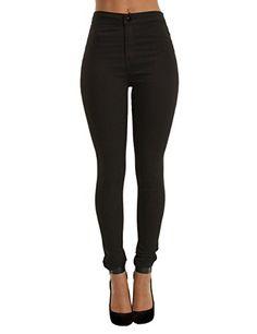 Yidarton Femme Pantalon Taille Haute Slim Cigarette Skinny Élastique Longueur Cheville Jeans: Matériel: Mélange de coton; Tissu élastique;…