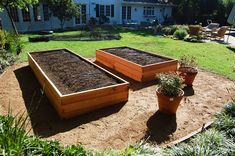 raised beds and decomposed granite
