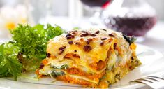 a prepared Butternut, Sage & Feta Lasagne meal