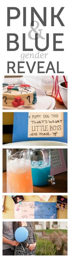 Pink and blue gender reveal - such cute ideas for a baby shower!