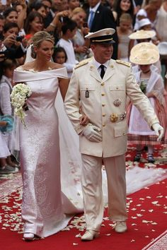 The Royal Order of Sartorial Splendor: The Prince and Princess of Monaco's Wedding: The Bridal Gown