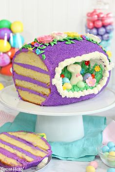 Looking for a knockout Easter cake? Try this Sugar Easter Egg Cake! It's based on old-fashioned panoramic sugar eggs, but it's made out of CAKE! It's entirely edible and the perfect Easter dessert! Panoramic Sugar Easter Eggs, Sugar Eggs For Easter, Easter Egg Cake, Easter Food, Easter Dinner Recipes, Easter Brunch, Easter Celebration, Celebration Cakes, Easter Treats