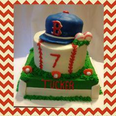 Boston Red Socks baseball cake baseball cap topper bottom field and middle baseball