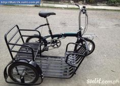 HAHAHA! Maybe this!  Folding bike with sidecar.
