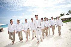 Men's beige and white attire on Anguilla