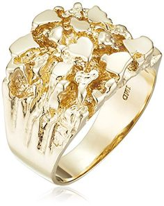 Men's 14k Yellow Gold Nugget Diamond-Cut Ring, Size 10 Amazon Collection http://www.amazon.com/gp/product/B00E0D1PG6/ref=as_li_qf_sp_asin_il_tl?ie=UTF8&camp=1789&creative=9325&creativeASIN=B00E0D1PG6&linkCode=as2&tag=divinetreas03-20&linkId=INMYJ5EPJU4X5TVR