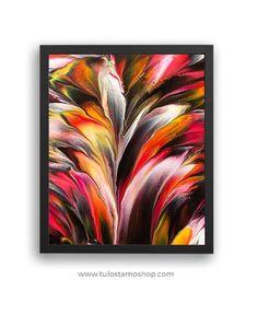 """Sateenkaaren väreistä nimensä saanut """"Arco iris"""" kehystettynä. Iris Art, Art Prints, Shop, Painting, Rainbows, Colors, Art Impressions, Painting Art, Paintings"""