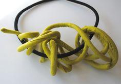 Fusillo - Linen Necklace   www.patriziajaus.com