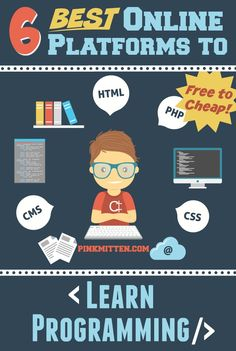 6 Best Online Platforms to Learn Programming @PinkMitten.com #learn #study #programming #coding #java #android