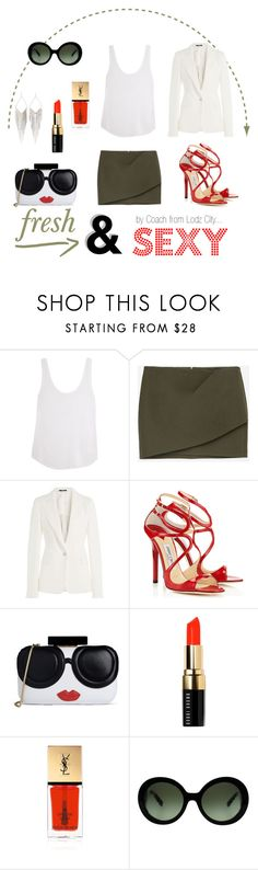 """fresh & sexy"" by mario1977lodz ❤ liked on Polyvore featuring Frame Denim, Zara, Maison Margiela, Jimmy Choo, Alice + Olivia, Bobbi Brown Cosmetics, Yves Saint Laurent, Prada and Jules Smith"
