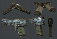 ArtStation - Semi Auto Pistol - Rust, Thomas Butters