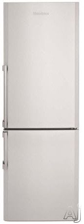Blomberg BRFB1042X 10.6 cu. ft. Counter Depth Bottom Freezer Refrigerator with 2 Adjustable Shelves, 3 Freezer Drawers, Dual Evaporators and White LED Lighting