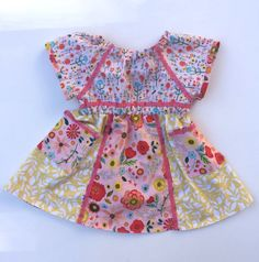 Floral Hodge-Podge Play Dress WTFP16 size 3 by WhigsandTories on Etsy