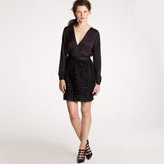 Minuit flutter dress - J. Crew. Classy!