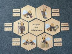 The Bee – Honeycomb Laying Circle – Playing – Easy – Learning Best Picture For earth day projects For Your Earth Day Projects, Earth Day Crafts, Stem Projects, Bee Activities, Earth Day Activities, Bee Honeycomb, Butterfly Life Cycle, Informational Writing, Science