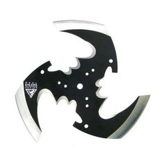 The Tri-Blade Ninja Throwing Star by famous designer, Paul Ehlers, is in diameter and sports three black stainless steel blades.