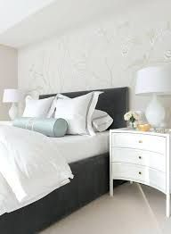 Dark Wood Bed With White Nightstands Google Search Grey Headboard Dark Wood Bed White Headboard