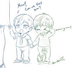 Makoto gets lost in the shop and Haru finds him ... Free! - Iwatobi Swim Club…