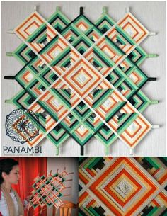 PANAMBI, MANDALAS TEJIDOS - MANDALA TIBETANO (site blocked, but a lovely design