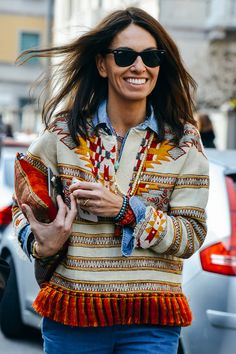 Western Motifs - Look of the Day, Street Style, Ponchos, Blanket Coats