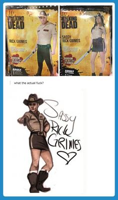 "ok its so sad that america is so desperate to be slutty that it made a ""sassy rick"" costume..."