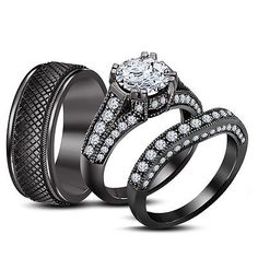 Black Wedding Rings His And Hers Beautiful engagement rings