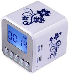 Haoponer Portable Mini Digital Display Screen Speaker USB Flash Drive Micro SD/TF Card Music MP3 Player FM Radio