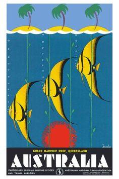 Australia Great Barrier Reef Poster 24in x36in
