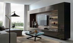 Contemporary tv units living room furniture units modern media cabinets and Living Room Wall Units, Living Room Cabinets, Living Room Storage, Cozy Living Rooms, Wall Cabinets, Large Cabinets, Contemporary Tv Units, Modern Wall Units, Contemporary Design